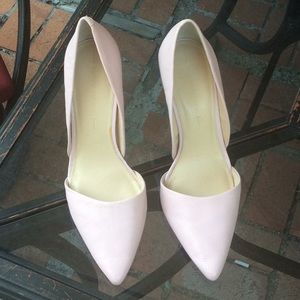 Banana Republic Adelia Baby Pink Leather Pump